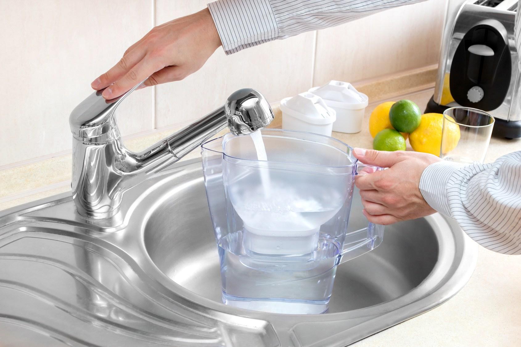 Traitement de l'eau calcaire avec un filtre
